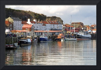 Boats in the Lower Harbour, Whitby (35991-RDA)