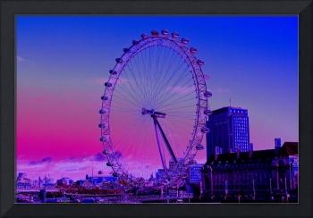 millenium wheel view Digital art