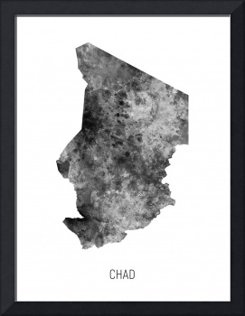 Chad Watercolor Map
