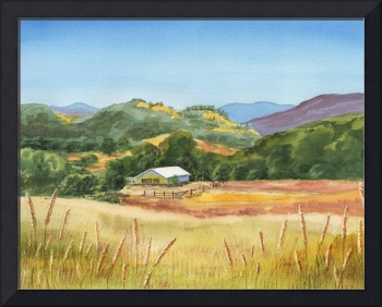 Landscape With White Barn