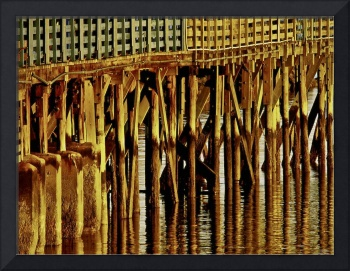 Under The Boardwalk Coastal Wall Art Print