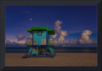43rd Street Lifeguard Tower at Twilight