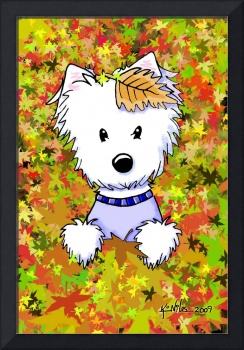 Autumn Leaves Diver Westie