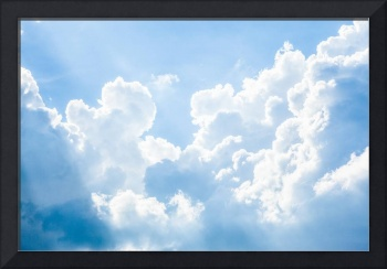Beautiful Sky Photo Framed Print