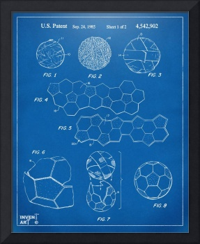 Soccer Ball Construction Patent Artwork Blueprint