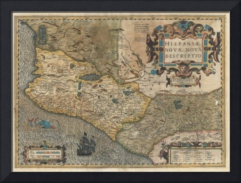 Map of Mexico - Spain by Hondius & Mercator
