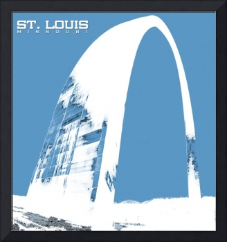 St Louis Arch in Blue