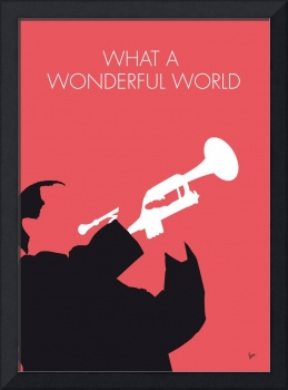 No012 MY LOUIS ARMSTRONG Minimal Music poster
