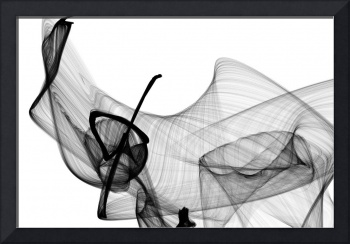 40x60 Abstract Poetry in Black and White 156
