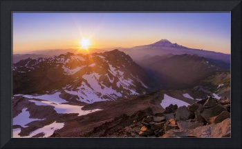 Goat Rocks, Mt. Rainier Sunset