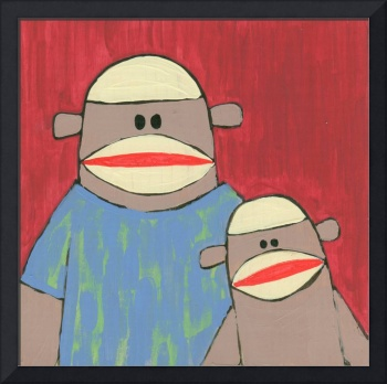 Sock Monkey 220: Father and Son