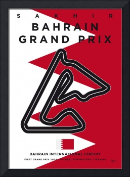 My F1 BAHRAIN Race Track Minimal Poster