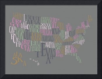 Mascara US Typography Map
