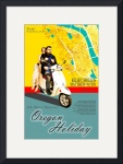 Oregon Holiday Poster Print by Mark Cullen