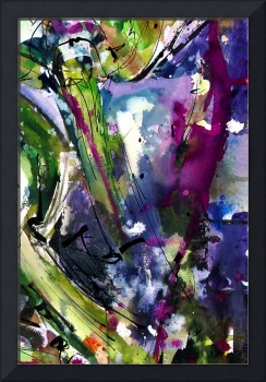 Abstract Arti 2 Watercolor & Ink By Ginette