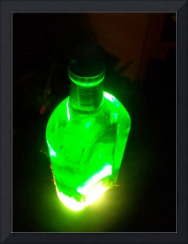 Green Bottle Illuminated