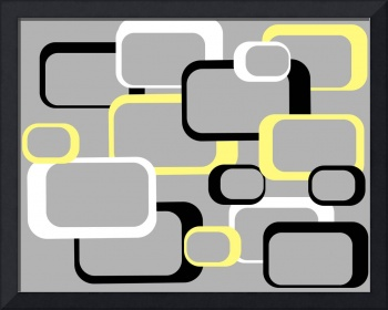 Yellow Retro Squares on a Gray Background