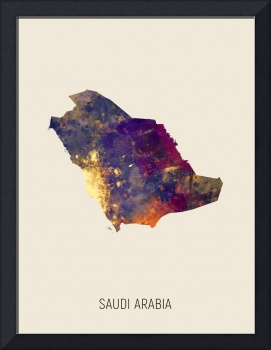 Saudi Arabia Watercolor Map