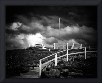Beach Overlook at Marineland B&W