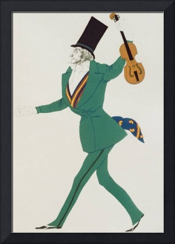 Costume design for Paganini in 'The Enchanted Nigh
