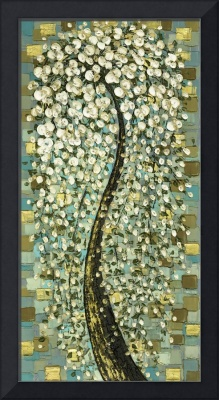 Weeping White Cherry Blossom Tree - vintage style
