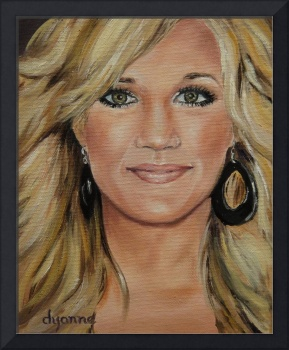 Carrie Underwood Celebrity Painting