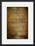 Framed Prints Tecumseh Poem - Act of Valor Movie by Wayne Moran