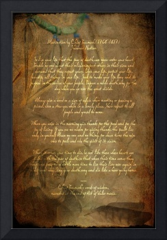 Framed Prints Tecumseh Poem - Act of Valor Movie