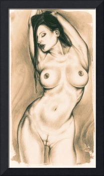Pin Up Lithograph