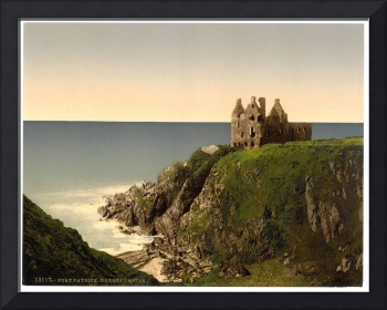 Vintage Photo-Print of Dunsky Castle (1905)
