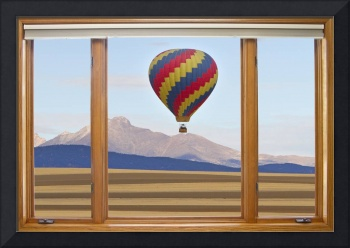 Hot Air Balloon Colorado Wood Picture Window