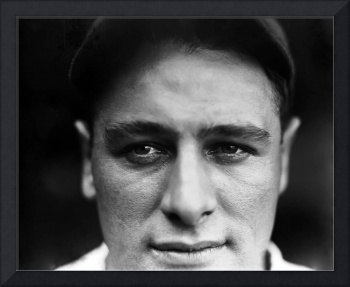 Lou Gehrig extreme close up
