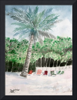 palm tree tropical art print
