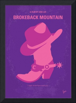 No369 My Brokeback Mountain minimal movie poster