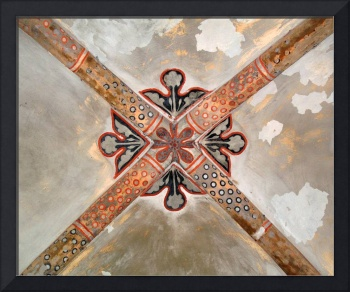 Historic ceiling decoration in Riga