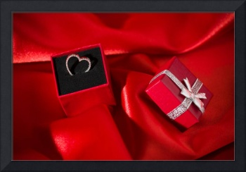 Heart pendant in a red gift box