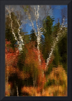 Washington New Hampshire Fall Scene Abstract