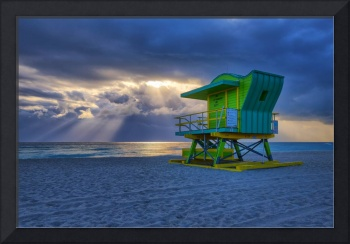 The Sun's Rays ~ 4th Street Lifeguard Tower