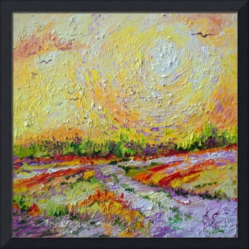 Impressionist Sunny Day Landscape