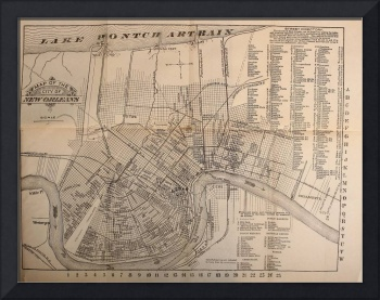 Vintage Map of New Orleans Louisiana (1902)