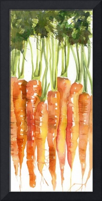 Carrot Bunch Kitchen Art