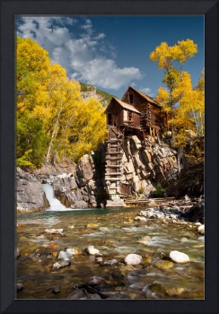 The Crystal Mill In Fall