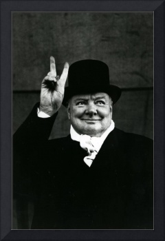 Sir Winston Churchill peace sign