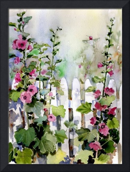 Hollyhock Fence