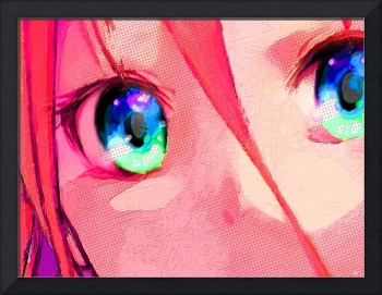 Anime Girl Eyes Red