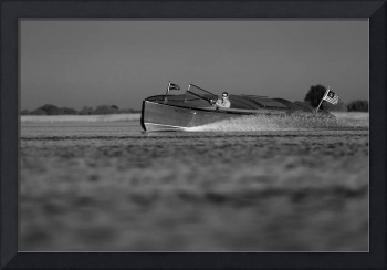 Black & White Series-Wooden Boat 18