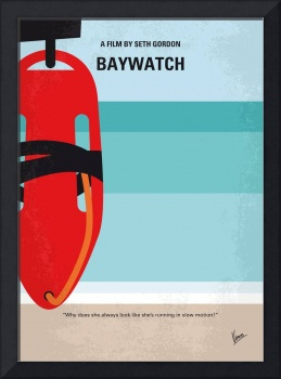 No730 My Baywatch minimal movie poster