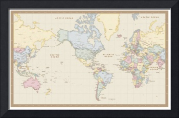 Antique Mercator World Map