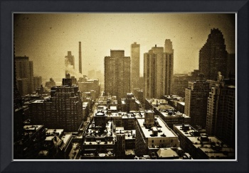 Looking East On A Snowy Day 2, New York City 2009