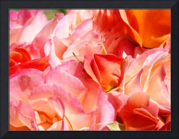 Roses Bouquet art prints Pink Rose Flower Baslee